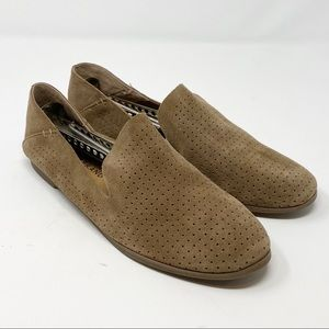 Lucky Brand  // Perforated Suede Slip-Ons